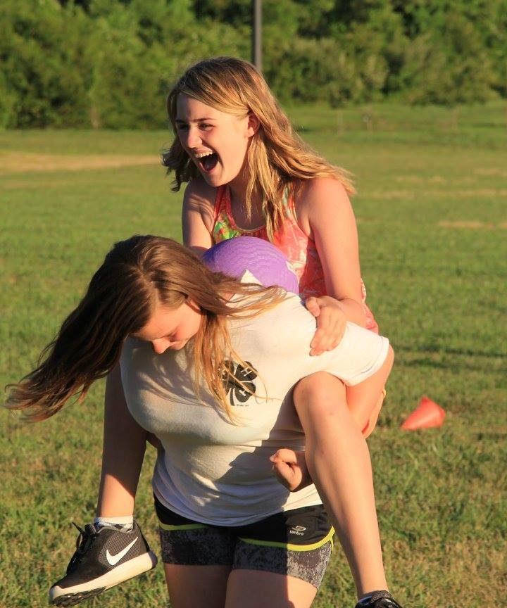 Kids playing at 4-H camp