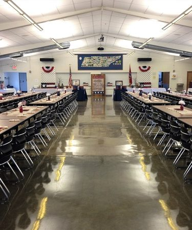Inside view of dining hall